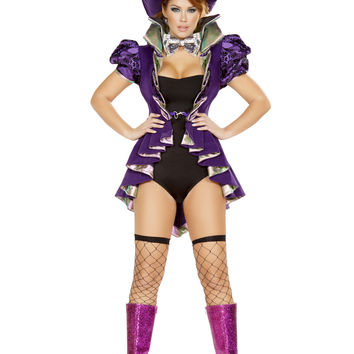 Roma Costume 4729 - 4pc As Mad As a Hatter Women's Costume