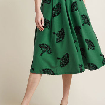 B. Jones Style Midi Skirt in Pine