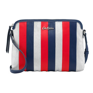 25th Birthday Navy Leather Cross Body | Cross Body Bags | CathKidston