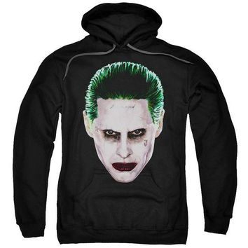 ac NOOW2 Suicide Squad - Joker Head Adult Pull Over Hoodie