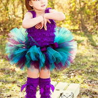 Plum Turquoise Tutu...First Birthday Tutu, Photo Prop, Dance Tutu, Pageant Tutu...Baby, Toddler, Girls Sizes . . . PLUM CRAZY