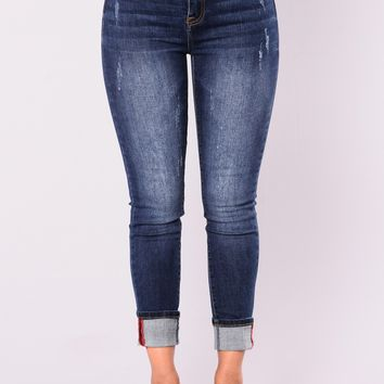 Walking Away Skinny Jeans - Dark