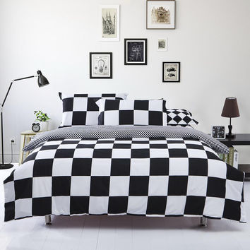black and white duvet cover set bed linen clothes for bed comforter cover bed cotton set quilt cover bedspread bedding set