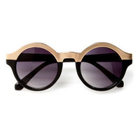 Specs Mix Rose Gold and Black Sunglasses