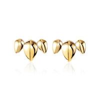 Pangolin Crescent Earrings in 18ct Yellow Gold - Patrick Mavros