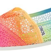 BOBS from Skechers Women's Plush Ombre Flat,Multi,7 M US