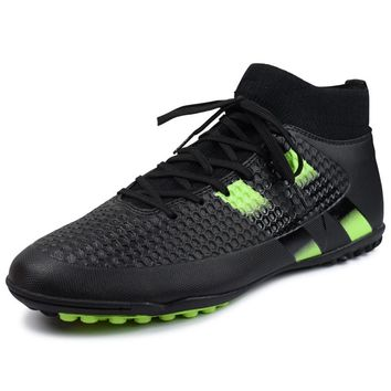 ZHENZU Spike Soccer Football Shoes High Ankle Men's Crampon Sneakers Football Boots Superfly Original Cleats Futzalki Football