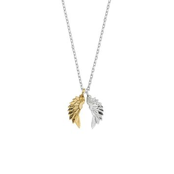 Wing Necklace - Silver Plated