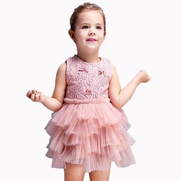 Baby Girl Dresses For Wedding Evening Party Princess Dress Girl Costume Children Prom Fancy Dress Ceremonies Gown