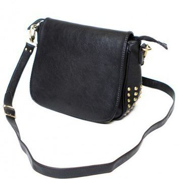 Brandy ♥ Melville |  Leather Satchel with Cone Studs - Bags - Accessories