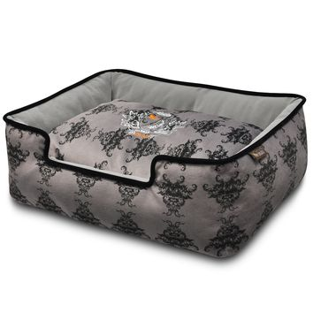P.L.A.Y. Royal Crest Lounge Bed - Ivory Black/Cool Gray