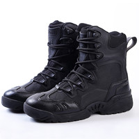 2017 Winter outdoor military boots men's special forces combat boots tactical boots desert boots   high to help wear militar