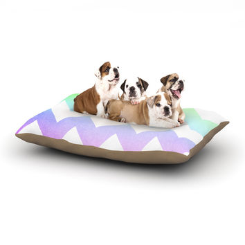 """Catherine McDonald """"Water Color"""" Chevron Dog Bed"""