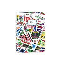 Paris Map [Name Customized] Leather Passport Holder - Leather Passport Cover - Travel Accessory- Travel Wallet for Women and Men_Matrioshka