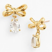 Women's kate spade new york 'tied up' drop earrings - Clear/ Gold
