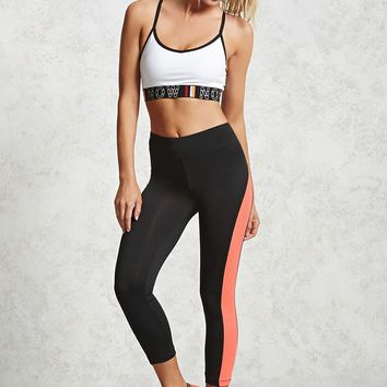 Active Contrast Capri Leggings