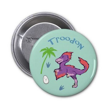 Cute Troodon 2 Inch Round Button