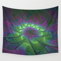 A Luminous Fantasy Place, Fractals Art Wall Tapestry by Gabiw Art