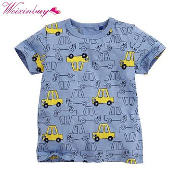 Children's T shirt Boys T-shirt Baby Clothing Little Boy Summer Shirt Tees Designer Cotton Cartoon Clothes 1-6Y