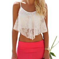 sexy lace crop top