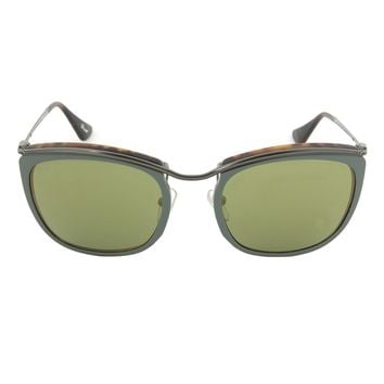 Persol PO3081S 1007/08 Sunglasses | Green and Matte Havana Frame | Green Mirror Gold Lens