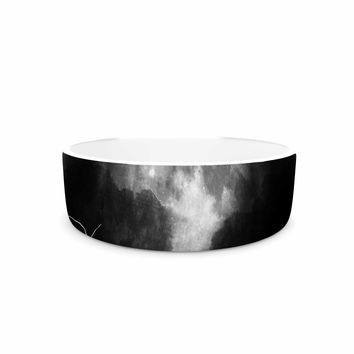 "Frederic Levy-Hadida ""Moon Catcher"" Black White Mixed Media Pet Bowl"