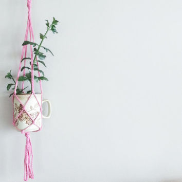 Room Decor- Shabby Chic Decor- Mother's Day Gift~ Hanging Planter- Bohemian Furniture- Macrame- Living Room Decor- Home Decor- Boho Chic