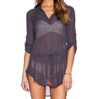 eberjey Parker Tunic in Charcoal