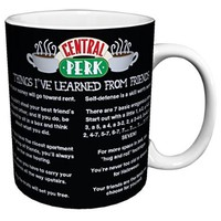 Friends Things I Learned (Central Perk Cafe Menu) TV Television Romantic Sitcom Show Ceramic Gift Coffee (Tea, Cocoa) 11 Oz. Mug