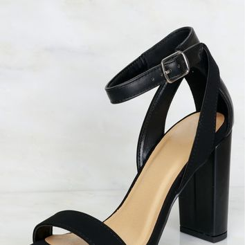 Step On Over Strappy Heel Black