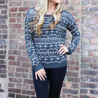Unforgotten Voyage Sweater - Charcoal