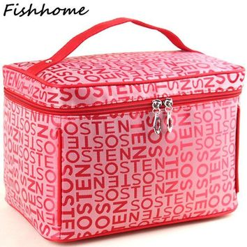 ESBONJ Professional Large Capacity Cosmetic Bag Extra Big High Quality Women Waterproof Travel Necessaire Toiletry Make up Bag SZL53
