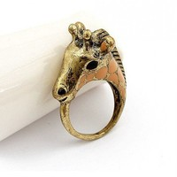 Boho Giraffe Fashion Ring Size 8 | christinepurr - Jewelry on ArtFire