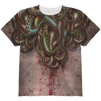 Cthulhu Greater God Tentacles Costume All Over Youth T Shirt