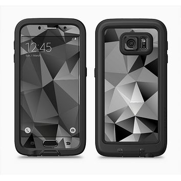The Vector Black & White Abstract Connect Pattern Full Body Samsung Galaxy S6 LifeProof Fre Case Skin Kit