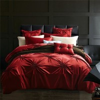 Solid Color Silk Bedding Sets High Quality