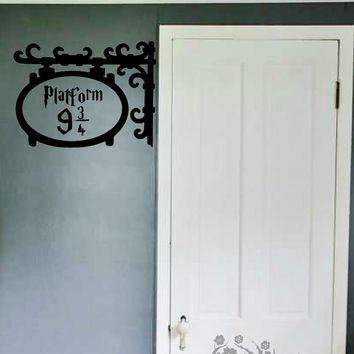 Platform 9 3/4 Door Wall Sticker Kids Room Bedroom Harry Potter Movie Wall Decal Bathroom Baby Nursery Vinyl Home Decor Art DIY