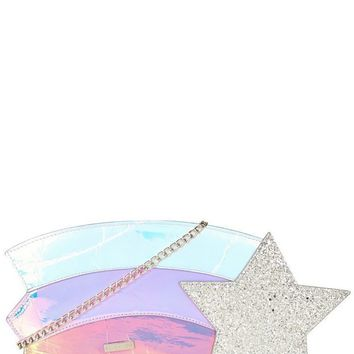 Shooting Star Rainbow Cross Body Bag by Skinny Dip London