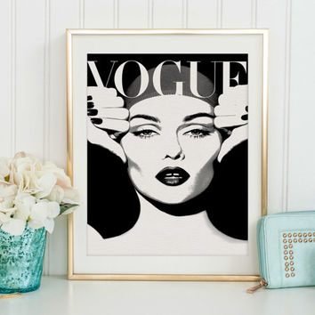 VOGUE MAGAZINE, Vogue Decor, Vogue Cover,Fashion Illustration,Fashionista,Modern Wall Art,Home Decor,Vogue Poster,Vogue Paris Original