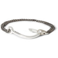 Miansai Silver And Oxidised Silver Hook Bracelet | MR PORTER