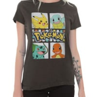 Pokemon Original Four Boxes Girls T-Shirt