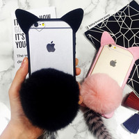 Furry Cat Case Cover for iPhone