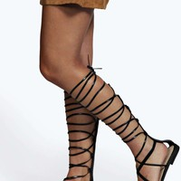 Layla Lace Up Knee High Gladiator Sandals