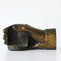 Place It Here - Vintage Brass Hand Cup Holder