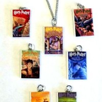 Harry Potter Book Series Charm Necklace ALL 7 BOOKS Interchangeable book charms