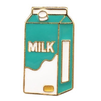 Milk Enamel Pin
