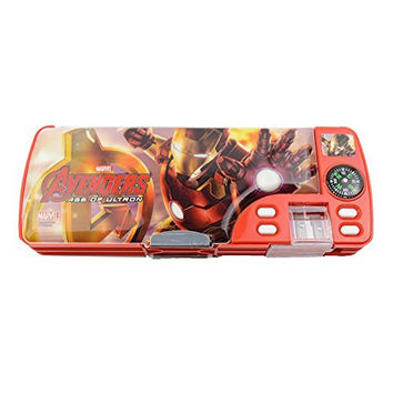 Disney Marvel Iron Man Kid Multi-functional Pencil Case/pencil-box