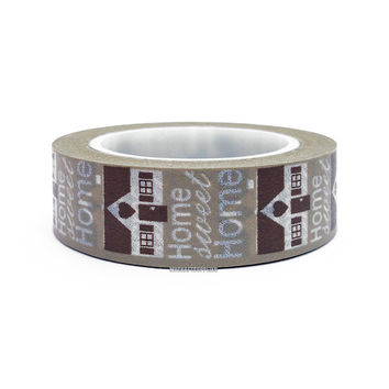 Home Sweet Home Washi Tape by Love My Tapes, 15mm x 10m