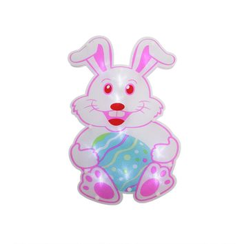 """13.75"""" B/O LED Lighted Easter Bunny Rabbit Window Silhouette Decoration"""