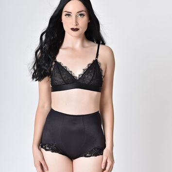 Black Lace Sheer Bralette